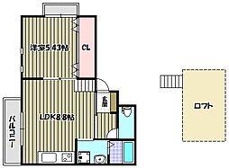 ララフィオーレ堺東[3階]の間取り