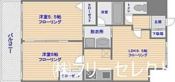 福岡県福岡市博多区堅粕3丁目の賃貸マンションの間取り
