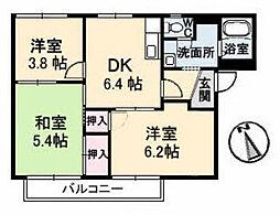 コーポ平井 B棟[1階]の間取り