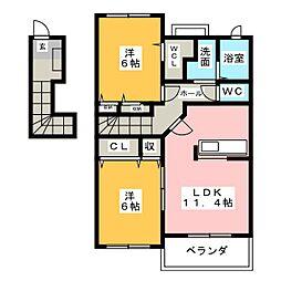 フェリーチェ B棟[2階]の間取り