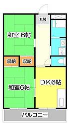 綱島マンション[2階]の間取り