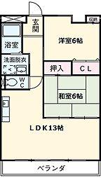 愛知県名古屋市瑞穂区玉水町1の賃貸マンションの間取り