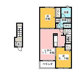 ひまわりIII[2階]の間取り