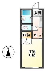 モンシャトー泉[2階]の間取り