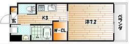 ウィングス重住[7階]の間取り