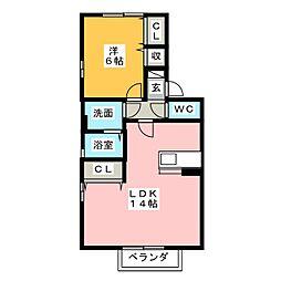 ラ・プレミール C[2階]の間取り