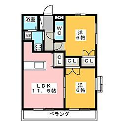 ボナール・キク[3階]の間取り