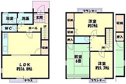 [テラスハウス] 兵庫県姫路市三左衛門堀西の町 の賃貸【/】の間取り