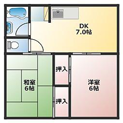 シャトー藤[2階]の間取り