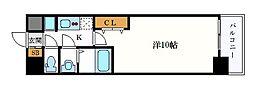 名古屋市営名城線 久屋大通駅 徒歩6分の賃貸マンション 14階1Kの間取り