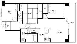 ヴェルデサコート桜ヶ丘 - Bタイプ[602号室]の間取り