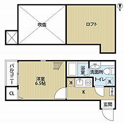 フィス姪浜・5月12日退去予定・[105号室号室]の間取り