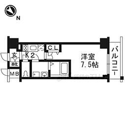 エスリード京都吉祥院105 1階1Kの間取り