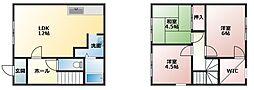 [タウンハウス] 兵庫県加古郡播磨町東野添2丁目 の賃貸【兵庫県 / 加古郡播磨町】の間取り