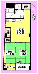 ダイトウマンション[6階]の間取り
