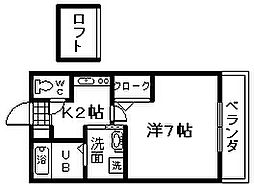 セジュールZENZO B棟[206号室]の間取り
