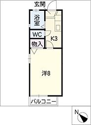 フォーレント東海[2階]の間取り