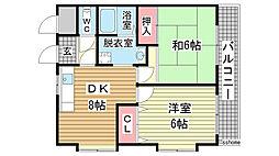 ヴィラコート深江II[3階]の間取り