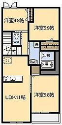 (新築)フェアリー[202号室]の間取り