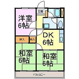 愛知県半田市青山5丁目の賃貸アパートの間取り