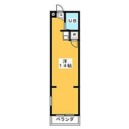 マンション日吉多加木[2階]の間取り