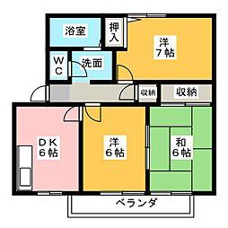 フォレストK D棟[1階]の間取り