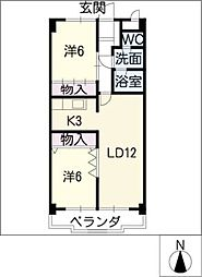トゥインクル・ツイン桃山[4階]の間取り