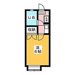 松野ハイツ2[1階]の間取り