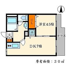 ディアーク[1階]の間取り