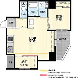 阪急千里線 吹田駅 徒歩8分 6階1SLDKの間取り