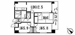 ドミール藤沢[4階]の間取り
