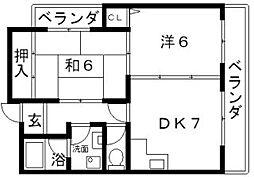 グレイスパイン[2階]の間取り
