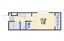 リバーパレス牛田新町[4階]の間取り