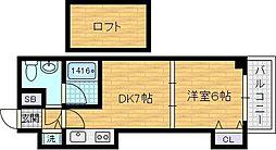 T's SQUARE 天神橋[3階]の間取り