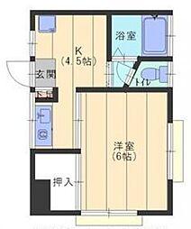 東京都葛飾区立石2丁目の賃貸アパートの間取り