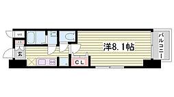 プロシード神戸元町[802号室]の間取り