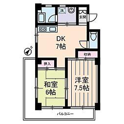 ベルカディーマンション[3階]の間取り