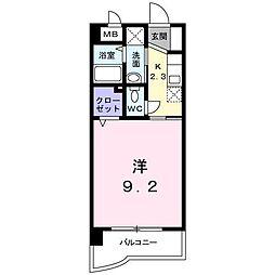 パークサイド[4階]の間取り