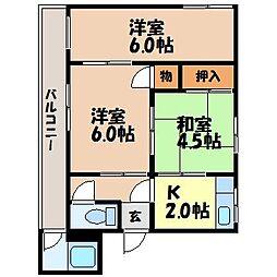 生田アパート[2F号室]の間取り