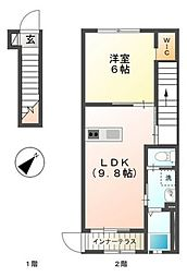 (仮)FALDA.T海田新築アパート[2階]の間取り