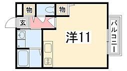 兵庫県たつの市新宮町光都2丁目の賃貸アパートの間取り