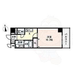 (仮)西大寺南マンション 8階1Kの間取り