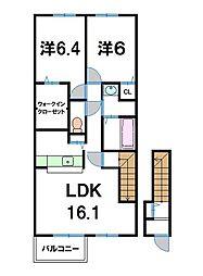 プラシードI[2階]の間取り