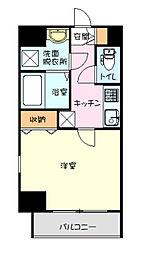 リヴシティ横濱弘明寺弐番館 8階1Kの間取り
