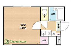 ラ・シャンス東橋本第3 1号棟[103号室]の間取り