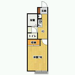 モンテローザ[2階]の間取り