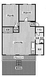 百合ヶ丘ハイツ[1階]の間取り