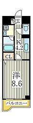K・ブローテ・柏の葉A[2階]の間取り