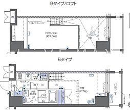 都営大江戸線 麻布十番駅 徒歩3分の賃貸マンション 7階1Kの間取り