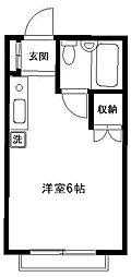 レクコーポ成城[103号室]の間取り